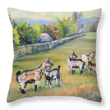 Croatian Goats Throw Pillow