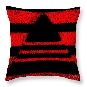 Crochet Pyramid Digitally Manipulated Throw Pillow by Kerstin Ivarsson