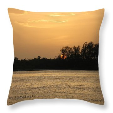 Throw Pillow featuring the photograph Crocodile Eye by Kathy Barney
