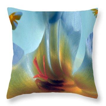 Crocus Fantasy Throw Pillow