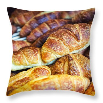 Croissants  Throw Pillow by Tanya Harrison