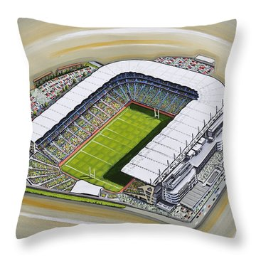 Croke Park Throw Pillow by D J Rogers