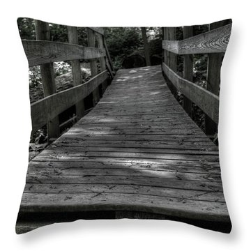Crooked Bridge Throw Pillow