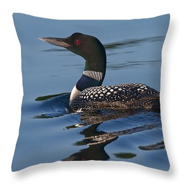 Crooked Lake Loon Throw Pillow