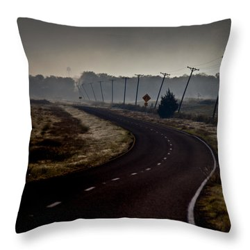 Crooked Throw Pillow by Mark Alder