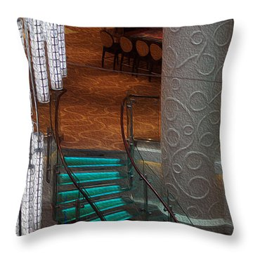 Crooked Stairs Norwegian Throw Pillow
