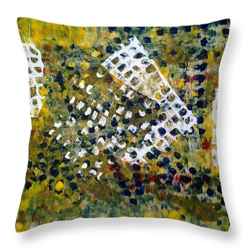 Crooked Trails Throw Pillow by Lesley Fletcher