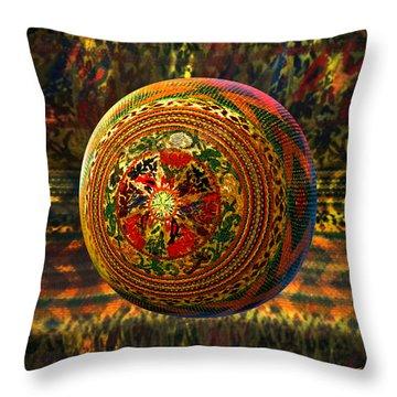 Croquet Crochet Ball Throw Pillow by Robin Moline