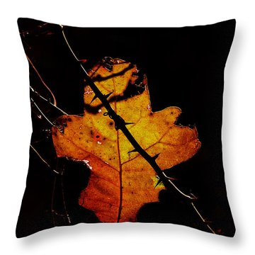 Cross And Thorns Throw Pillow