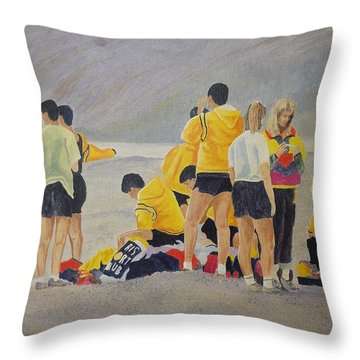 Cross Country Beach Run Throw Pillow
