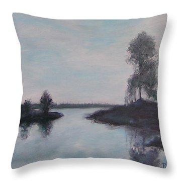 Cross Creek In Florida Throw Pillow
