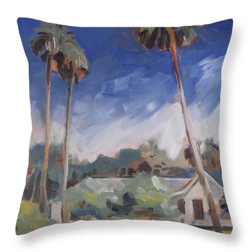 Cross Creek Palms  Throw Pillow