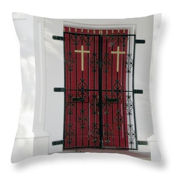 Key West Church Doors Throw Pillow
