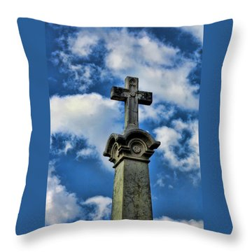 Throw Pillow featuring the photograph Cross Face 3 by Lesa Fine