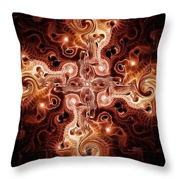 Cross Of Fire Throw Pillow by Anastasiya Malakhova