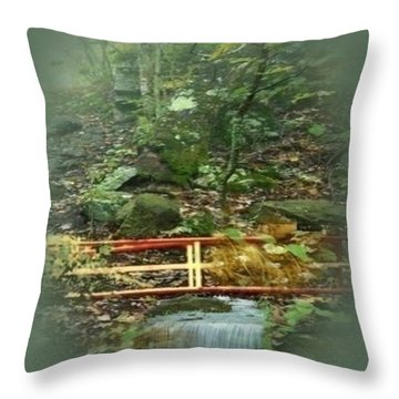 A Bridge To Cross Throw Pillow by Ray Tapajna