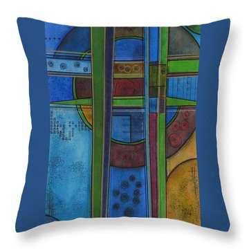 Cross Roads Throw Pillow