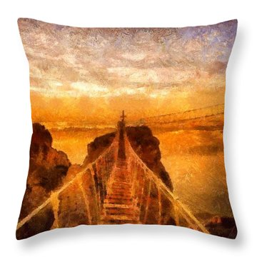 Cross That Bridge Throw Pillow