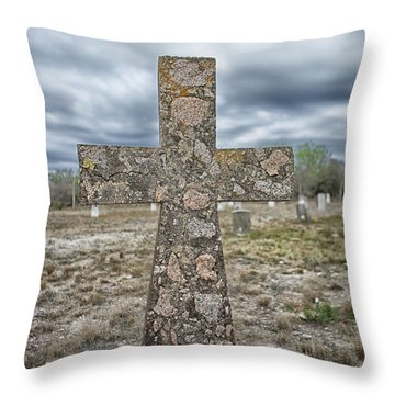 Cross With No Name Throw Pillow