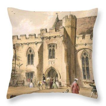Crossbow Practice, Penhurst Place Throw Pillow