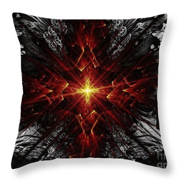 Throw Pillow featuring the digital art Crossed by Arlene Sundby