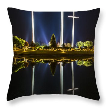 Crosses In Reflection Throw Pillow