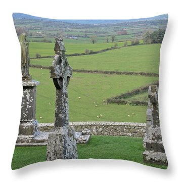 Crosses Of Cashel Throw Pillow by Suzanne Oesterling