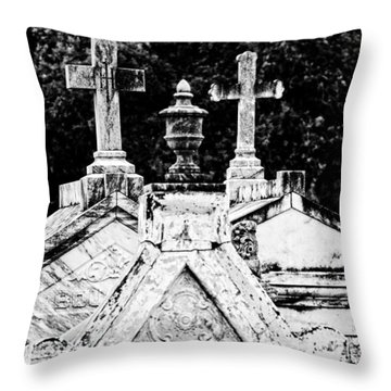 Crosses Of Metairie Cemetery Throw Pillow