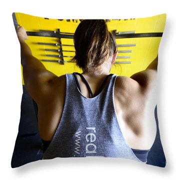 Crossfit 3 Throw Pillow by Bob Christopher