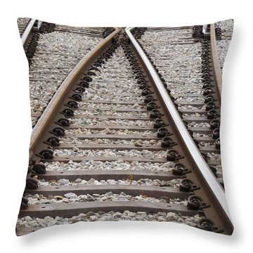 Throw Pillow featuring the photograph Crossing by Beth Vincent