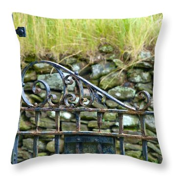 Crossing Gate Throw Pillow