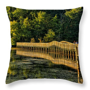 Throw Pillow featuring the photograph Crossing Into Autumn  by Ola Allen