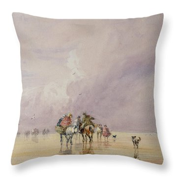 Crossing Lancaster Sands Throw Pillow by David Cox
