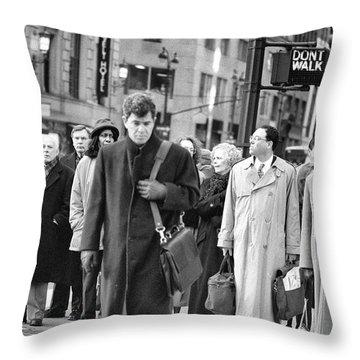 Crossing Manhattan Throw Pillow