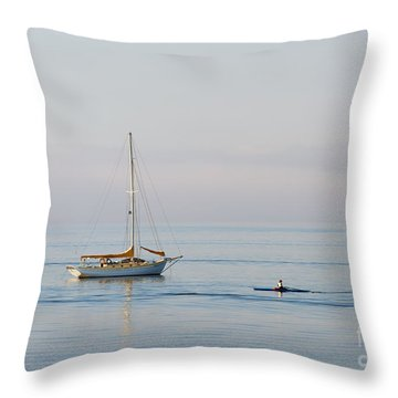 Crossing Paths Throw Pillow by Mike  Dawson