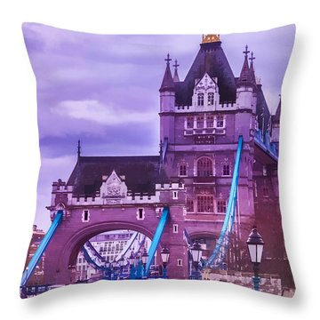 Crossing The Bridge Throw Pillow