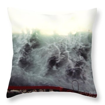 Crossing The Channel I Throw Pillow