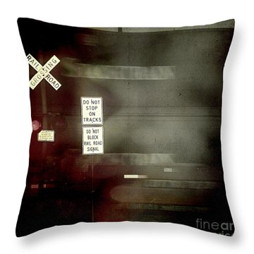 Crossing The End Throw Pillow