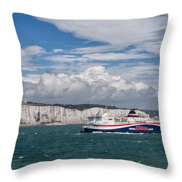 Crossing The English Channel Throw Pillow by Tim Stanley