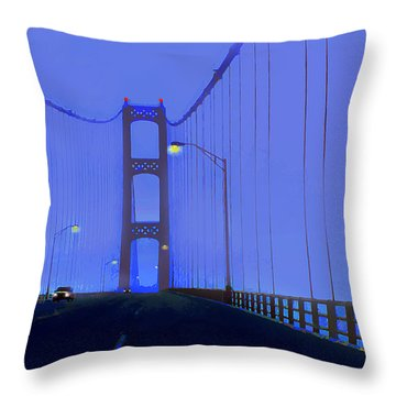 Crossing The Mighty Mack Throw Pillow