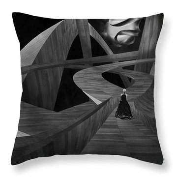 Crossroad Throw Pillow by Jack Zulli