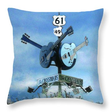 Crossroads In Clarksdale Throw Pillow by Lizi Beard-Ward