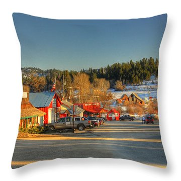 Crouch Main St Throw Pillow