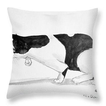 Crouching Cat Throw Pillow