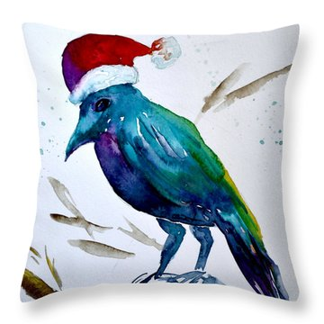 Crow Ho Ho Throw Pillow