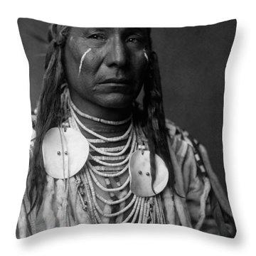 Crow Indian Man Circa 1908 Throw Pillow