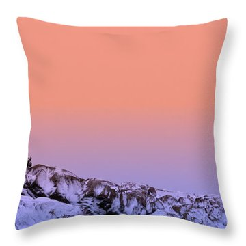 Crow Island Winter Throw Pillow by Michael Hubley
