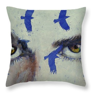 Crows Throw Pillow by Michael Creese