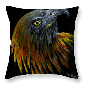 Crowhawk Original Throw Pillow by Peter Piatt