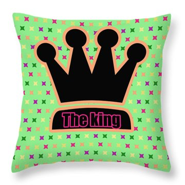 Crown In Pop Art Throw Pillow by Tommytechno Sweden